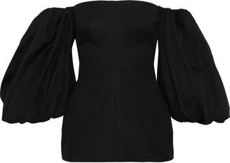 Ellery Countess Off-the-shoulder Gathered Cotton-twill Top
