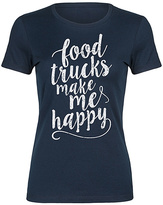 Navy 'Food Trucks Make Me Happy' Fitted Tee