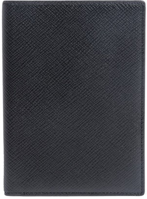 Smythson Panama grained-effect passport cover