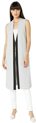 BCBGMAXAZRIA Sleeveless Long Vest (Light Heather Grey) Women's Vest