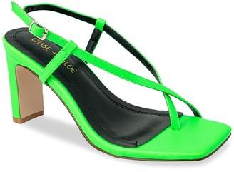 Chase & Chloe Loten Strappy Block Heel Sandal