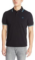 Fred Perry Men's Twin Tipped Polo Shirt, Black/Soft Yellow/Imperial