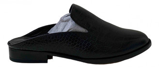 Clergerie Black Leather Mules & Clogs