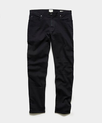 Todd Snyder Straight Fit 5-Pocket Chino In Black