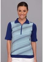 Nike Stripe Mock Polo