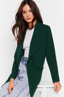 Nasty Gal Womens Act Professional Oversized Blazer - Green - S, Green