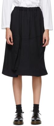 Comme des Garçons Comme des Garçons Navy Wool Midi Skirt