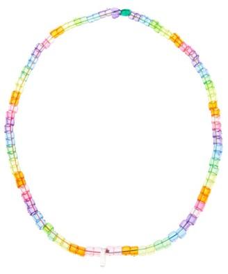 LAUREN RUBINSKI Heart Charm Beaded Necklace - Multi