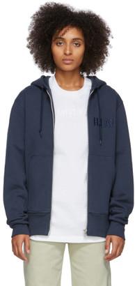 Helmut Lang Navy Standard Zip Hoodie