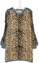 Stella McCartney tiger print fringe dress