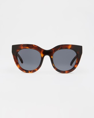 Le Specs Air Heart Brown Tort Round Sunglasses