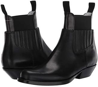 MM6 MAISON MARGIELA Two-Piece Western Chelsea Boot (Black) Women's Shoes
