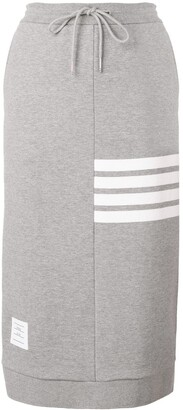 Thom Browne 4-Bar Loopback Sack Skirt