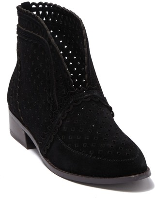 Cecelia New York Tate Perforated Suede Bootie