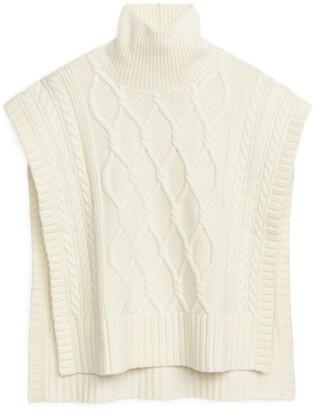 Arket Cable-Knit Wool-Blend Bib