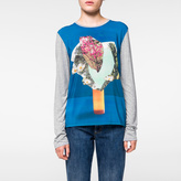 Paul Smith Women's Grey Long-Sleeved Top With 'Abstract Floral' Print