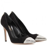 Gianvito Rossi Suede pumps with metal accent