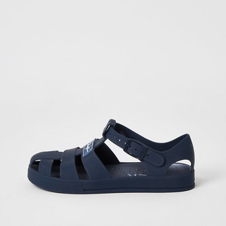 River Island Boys navy Prolific caged jelly sandals