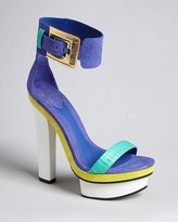 Brian Atwood Ankle Strap Sandals - Braganca High Heel