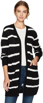 Jack by BB Dakota Women's Olga Striped Sweater Cardigan