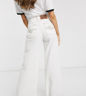 Reclaimed Vintage inspired wide leg jean with stitch detail