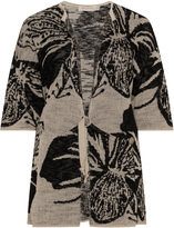 Isolde Roth Plus Size Floral jacquard cardigan
