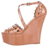 Alaia Laser Cut Wedge Sandals