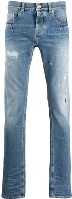 Les Hommes Urban Low Rise Stonewashed Skinny Jeans