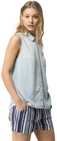 Tommy Hilfiger Final Sale- Fluid Chambray Sleeveless Shirt