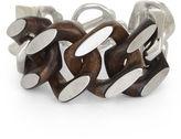 BCBGMAXAZRIA Chunky Wood-Chain Bracelet