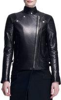 Givenchy Wool/Leather Long Moto Coat