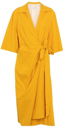 Dries Van Noten Cotton-blend wrap dress
