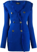 Elisabetta Franchi elongated knitted blazer