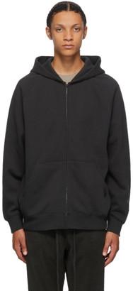 Essentials Black Raglan Full Zip Hoodie