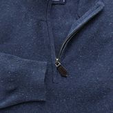 Charles Tyrwhitt Indigo cotton cashmere zip neck jumper