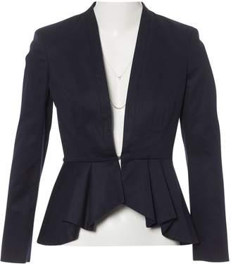 Frankie Morello Navy Cotton Jackets