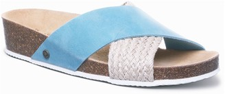 BearPaw Valentina Women's Leather Wedge Slide Sandals
