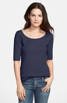 Caslon Ballet Neck Tee (Regular & Petite)
