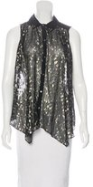 Elizabeth and James Metallic Sleeveless Blouse w/ Tags