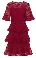 Dorothy Perkins Womens *Girls On Film Burgundy Fit And Flare Dress, Burgundy