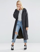 Asos Rain Trench with Fleece Lining