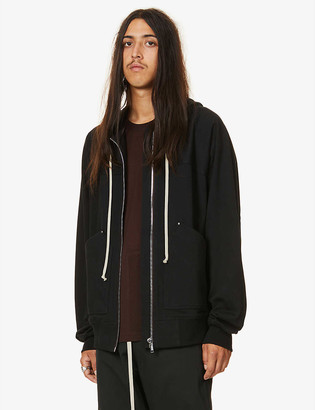 Rick Owens Relaxed-fit cotton-jersey hoody