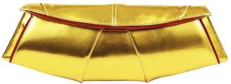 Non Signé / Unsigned Non Signe / Unsigned Gold Patent leather Clutch bags