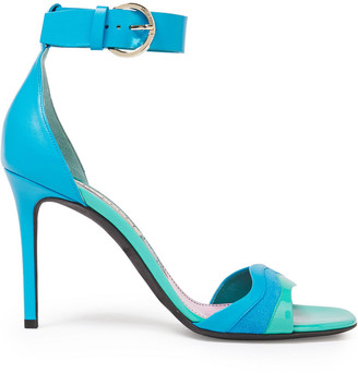 Emilio Pucci Suede, Smooth And Patent-leather Sandals