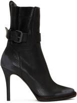 Haider Ackermann Black Varo Buckle Boots