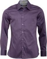 Ted Baker Mens Lennon Archive Long Sleeve Satin Stripe Shirt Purple