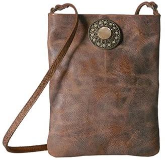 Leather Rock Marla Cell Pouch (Cognac) Cross Body Handbags