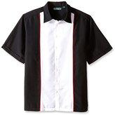 Cubavera Men's Big-Tall Big and Tall Short Sleeve Tri-Color Panel Woven Shirt