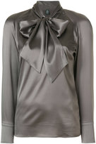 Eleventy pussy bow blouse