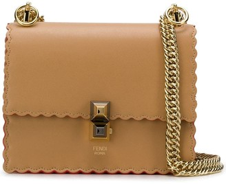 Fendi Kan I mini scalloped shoulder bag